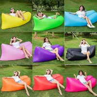 Wholesale Top Quality Fast Inflatable Air Sleeping Bag Waterproof Lazy Sofa Bed Festival Camping Hiking Travel Hangout Beach Bag Camping Banana Couch