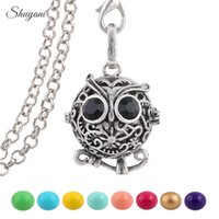 animal sounds music - Music Bola Ball Owl Hollow Openable Harmony Music Sounder Baby Locket Pendant Jewelry Pendant Necklaces for Pregnant Mother