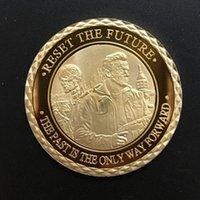 al por mayor terminador robot-2 piezas Raro Hollywood película terminador genisys Schwarzenegger robot 24k oro plateado moneda de recuerdo