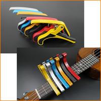 Wholesale 2016 New Arrival Folk Acoustic Electric Tune Quick Change Trigger Guitar Capo Key Clamp Colors Capo