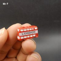 Wholesale Simulation Figurines London Style Red Double Layer Bus Model Toy Kid Perceive Educational Prop Teaching Aids