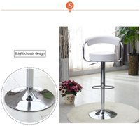 Wholesale white bar chair furniture shop stool chair restaurant dining room stool exhibition bar lifting PU seat chair show