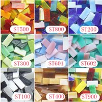 art material suppliers - 200gram X mm Stained Glass Strip DIY Glass Mosaic Hobbies DIY Material Supplier Mini Loose Tiffany Glass Pieces