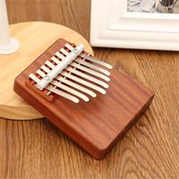 Wholesale Unique Key Finger Piano Mbira Kalimba Thumb Piano Rosewood Idea Fun Gift Traditional African Music Instrucments