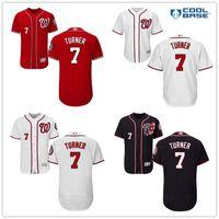 turner - New Washington Nationals Trea Turner White Navy Blue Gray Red Majestic MLB Baseball Jerseys Cheap