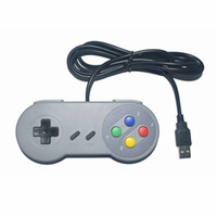Joystick usb España-SNES PC USB Controlador remoto Gamepad, Supper Classic PC remoto SFC Game Controller Conectado con cable Joypad Gamestick Joysticks para ventanas