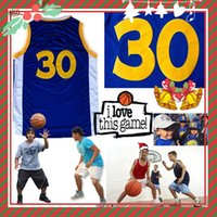 Wholesale Children S Christmas Gifts Cheap - KID Children Christmas Gift (with Logo & name) Stitched Swingman Curry #30 Golden Statel Jersey Cheap Promotion Sport Wolesale Present