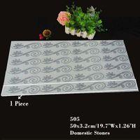 Wholesale 19 Inches Hotfix Rhinestone Design Flower Pattern Motif Iron On Wave Lace Decoration