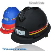Wholesale Miner cap helmets underground mine can wear headlights anti static v type labor insurance anti smab miners hat