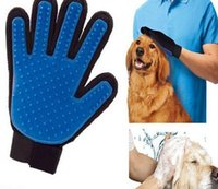 Wholesale New Arrival Pet GLove True Touch Cleaning Massage Removal Glove Bath Dog Cat Brush Comb Hair Cleaning Tools Dog Grooming
