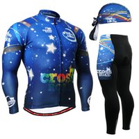 Wholesale Life on Track men s Cycling Suits Long sleeve Jersey Pants blue bike clothing jacket clothes wear motocross blue