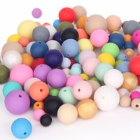 Wholesale DIY Jewelry Necklace mm Silicone Beads Loose Round Beads Food Grade BPA Free Baby Teething Chewable Bead Fashion Jewelry