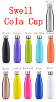 best thermos bottles - The best Swell Cola Shaped Insulated Double Wall Vacuum high luminance Water Bottle oz ml Creative Thermos bottle Vaccum Insulated