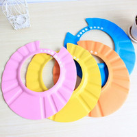 Wholesale Baby baby baby shampoo cap can be adjusted waterproof children s bath cap cap ear cap bath shampoo