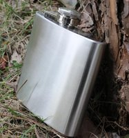 Wholesale 6 oz Stainless Steel Hip Flask Liquor Whisky Outdoor Portable Pocket Flasks Alcohol Bottle