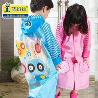 Wholesale Children raincoat poncho boy girl boy girl students of single child inflatable raincoat hat