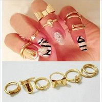 american combine - New Exquisite Cute Bow Ring New Korean Fashion Gold Finger Nail Ring combine piece EC