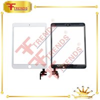Wholesale For iPad Mini Glass Touch Screen Digitizer Replacement Repair with IC Home Button Full Assembly Black White High Quality AAA Test