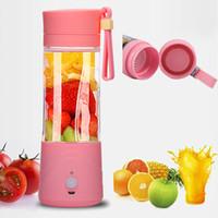 Wholesale Hot Sale ml Portable USB Electric Juicer Mini Plastic juicing Cup Vegetable Fruit Rechargeable Juice Maker Colors