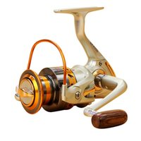 Gold aluminum ocean boats - 2017 NEW12BB Speed Ratio Metal Spinning Fishing Reel EF1000 Ocean Sea Boat Ice Fishing tackle Aluminum FISHING REEL
