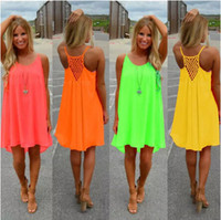Casual Dresses Bohemian Dresses Summer New Fashion Sexy Casual Dresses Women Summer Sleeveless Evening Party Beach Dress Short Chiffon Mini Dress BOHO Womens Clothing Apparel