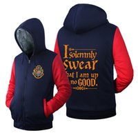 Wholesale Harry Potter I Solemnly Swear That I am up to no Good Hoodie Logo Winter JiaRong Fleece Mens Sweatshirts USA Size