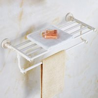 Wholesale European style designed Hot selling Luxury Wall Mounted white warmer racks Bars Bathroom Swivel Towel Rack rail Holder