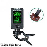 Wholesale Joyo FZONE clip on Tuner Electric Guitar Chromatic Bass violin Ukulele universal Portable Guitar Tuner
