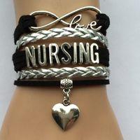 bar jobs - Drop Shipping Infinity Love Nursing Bracelet Heart Charm Best Job Career Bracelets Friendship Gift