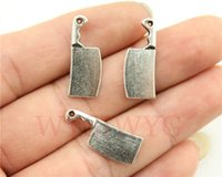 antique kitchen knives - WYSIWYG mm antique silver plated Kitchen knife charms