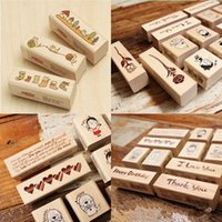 Wholesale stamps for scrapbooking Blessing Wood Stamps I love you Happy Birthday Thank you Stamp Gift Scrapbooking