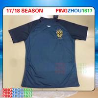 Soccer Men Short 2017 18 Brazil third Black Jersey 17 18 Soccer Jerseys  Camisa de futebol  Real Angels Blank ... da9444ec1