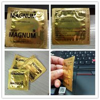 Wholesale Trojan Condoms MAGNUM Lubricanted Silky Latex Comfortable Stimulate Penis Extension Ejaculation Safer Sex Condoms Toys Sleeve box