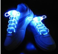 Wholesale COOL Multicolors Light Up LED Shoelaces New Fashion Flash Shoes Laces Disco Party Glowing Night Shoes Strings DDSLA1002