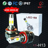 Wholesale h4 h7 h11 h1 car led headlight kits replacement hid v8 high power headlights