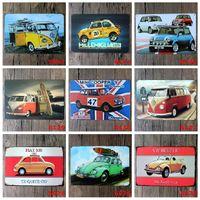 antique flat irons - VW Mini Cooper Flat tin sign Wall Decor Vintage Craft Art Iron Painting Tin Poster Cafe Shop Bar Club Home Decorate