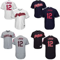 Wholesale Francisco Lindor Jersey Cleveland Indians Jersey Men Flexbase Cool Base All Stitched Embroidery Baseball Jersey