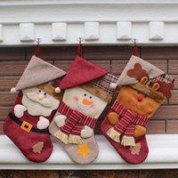 Wholesale 2016 High Quality Christmas Stocking Christmas Decorations Chirdren Christmas Gift bag