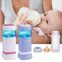 Wholesale Pc Portable Milk Bottle Sterilizer Baby Pacifier Ultraviolet Sterilizing Tool Baby Milk Water Feeding Bottles Color Blue Pink