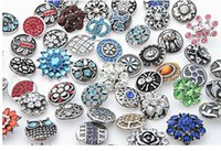 Wholesale diy Crystal mix styles colors mm small button snap jewelry interchangeable ginger snap button charm