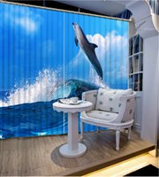 beautiful kitchen photos - Photo any size curtains for living room wave dolphin Fashion D Home Decor Beautiful window curtain