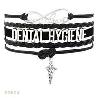 10 PCS / Lot) Infinity Love Debtal Hygiène Métal Charm Bracelets Suede Cuir personnalisé Tous les thèmes Drop Shopping