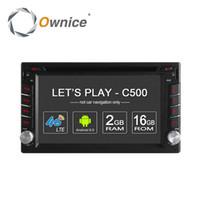Wholesale Ownice C500 G SIM LTE Network Android Quad Core universal car radio din Car DVD player GPS navi with GB RAM GB ROM Radio
