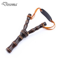 Wholesale Kids Bamboo Style Wood Wooden Sling Shot Toys Boy Outdoor Hunting Slingshot Toys Powerful Sling Shot Game Bow Catapult Funny Toy