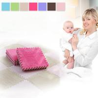 Wholesale Top Selling EVA Foam Floor Mat Kids Soft Developing Crawling Rugs Comfortable Baby Playing Mat Carpet Seven Colors Optional VE0145