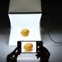 Wholesale Andoer Folding Foldable Portable Mini Photography Lightbox Studio for iPhone Samsang LG HTC Smartphone Digital or DSLR Camera