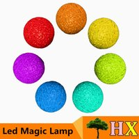 ball of led light - Nice Look Changing Color of Crystal Ball LED Night Magic Lamp Colors Colorful Light PVC PP LED Nightlight Lamp