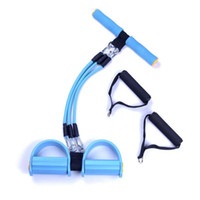 Wholesale Luxury Fitness Yoga Resistance Bands TPR Pedal Exerciser Stretcher Rope Foot Board Rope Gym Sport Exercise Training Pull For Women Men