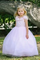 belle pictures - 2017 Pink Belle Style Girl Dress with Glitter Tulle Pretty Kids Formal Wear Birthday Party Dresses Floor Length For Weddings