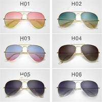 Man accessory lenses - Vintage Branded Metal Frame for Men Women Designer Gradient Sunglasse Lens Sun Glass Fashion Accessories Gift DHL Free